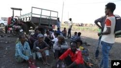 Faayilii - Ijoollee mooraa baqattootaa Qadarifi keessa jiran, Sudan, Sadaasa 16, 2020