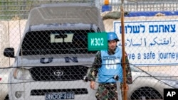 7일 시리아 골란 고원에서 휴전 감시 활동 중인 필리핀 출신 유엔 평화유지군.