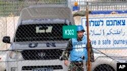 Golan tepelerinde görev yapan bir BM barışgücü askeri
