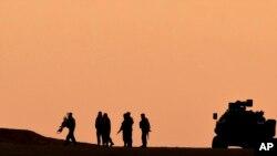 عکس آرشیوی از مرز مشترک ترکیه و سوریه، نزدیک شهر کردنشین کوبانی