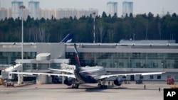 지난 24일 러시아 모스크바에서 스노든이 예약한 것으로 알려졌던 쿠바행 A330 항공기.