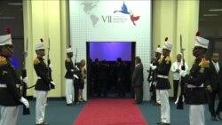 Pte. Obama llega a la inauguración de la Cumbre