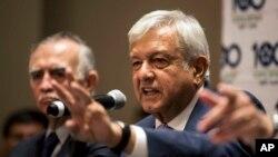 Le président du Mexique, Andrés Manuel Lopez Obrador, le 9 juillet 2018.