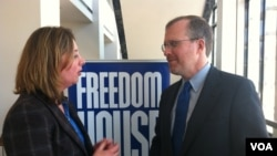 Freedom House Başkanı David Kramer ve Yıldız Yazıcıoğlu
