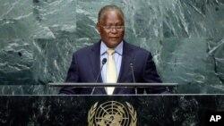 加勒比海国家海地代总统普立卫(Jocelerme Privert)在联大发言(2016年9月23日)