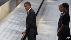 Американскиот претседател Барак Обама на одбележување на 11-ти септември на Граунд зеро