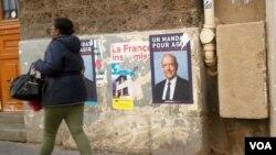 20일 프랑스 공화당 대선 후보 경선투표를 앞두고 파리 거리에 알랭 쥐페 전 총리 홍보 전단지가 붙어 있다.