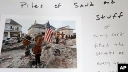 Imágen tomada por Larry Racioppo, un fotógrafo profesional que participa en la exposición conmemorativa de la súper tormenta Sandy.