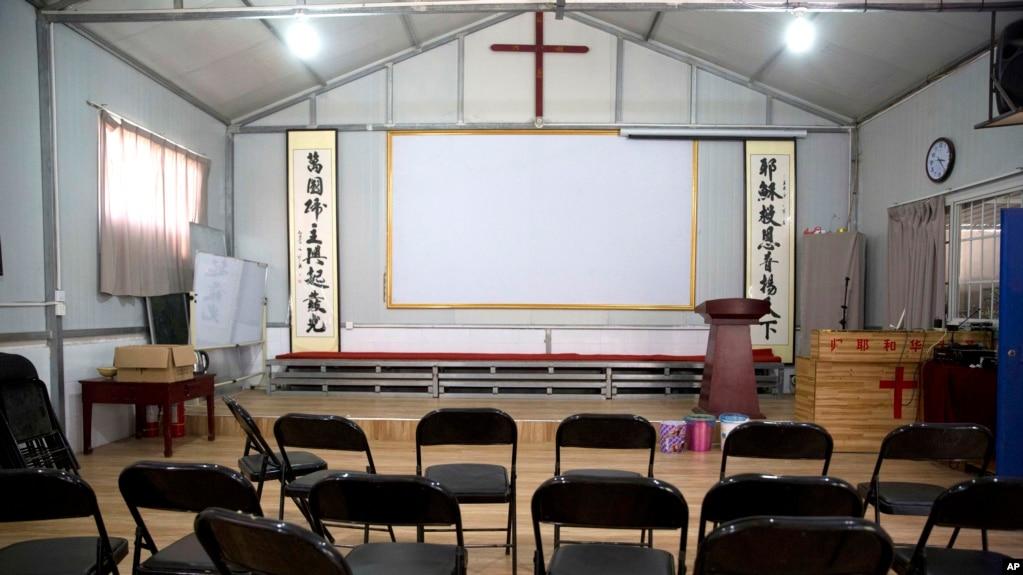 中国河南省南阳市当局关闭了一个家庭教会。(2018年6月4日)(photo:VOA)