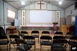 資料照:中國河南省南陽市當局關閉了一個家庭教會。 (2018年6月4日)
