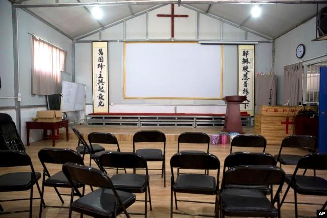 资料照:中国河南省南阳市当局关闭了一个家庭教会。(2018年6月4日)