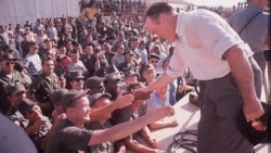 Comedian Bob Hope visits U.S. troops in South Vietnam in 1964