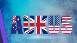 Ba nước Mỹ, Anh, Australia tuyên bố về liên minh AUKUS hôm 15/9/2021.