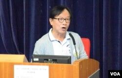 617民間約章發言人韓連山表示,希望民間特首的投票人數會多過去年6-22佔中全民投票的80萬人。(美國之音湯惠芸攝)