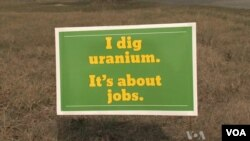 En Virginie, une pancarte préconisant l'ouverture de mines pouvant exploiter l'uranium