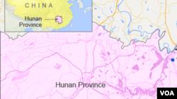 Bản đồ tỉnh Hồ Nam.