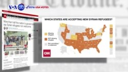 VOA60 Elections - 27 of the nation's governors refuse to admit Syrian refugees