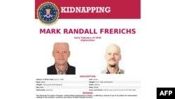 تصویر آرشیوی از پوستر افبیآی در رابطه با ربایش مارک رندال فرریکز (۲۶ اوت ۲۰۲۰)