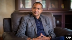 FILE - Moise Katumbi Chapwe, Governor of Democratic Republic of Congo's Katanga province, is pictured during an interview, on June 2, 2015 in Lubumbashi.