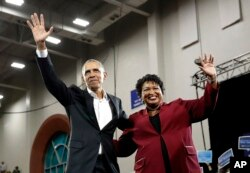Georgia eyaletinin Demokrat Partili vali adayına destek veren eski Başkan Barack Obama