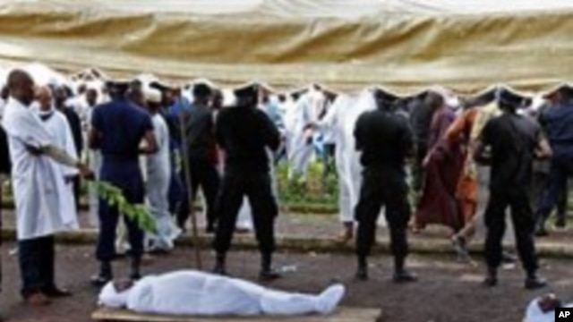 Bodies of people killed during a rally are seen at the capital's main mosque in Conakry, Guinea (File Photo - 02 Oct 2009)