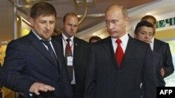 Рамзан Кадыров и Владимир Путин. Сочи. 2010 г.