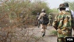 Hukumomi suka ce da wannan wurin sansanin 'yan Boko Haram ne, amma sun gudu bayan da sojoji suka tinkare shi suka kwace