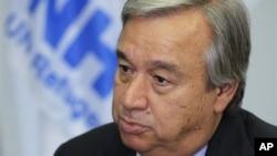 Antonio Guterres, Komisioner Tinggi PBB untuk Pengungsi, memperkirakan jumlah pengungsi bertambah dalam beberapa bulan mendatang. (AP/Sang Tan)