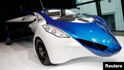 FILE - The AeroMobil 3.0 is pictured during its world premiere at Hofburg Palace in Vienna, October 29, 2014.