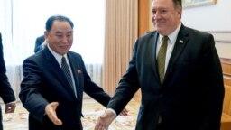 Ông Kim Yong Chol gặp Ngoại trưởng Mỹ Mike Pompeo ở Bắc Hàn hồi tháng Bảy năm ngoái.