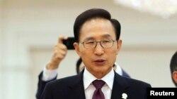 이명박 전 한국 대통령 (자료사진).