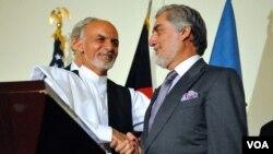 د افغانستان د حکومت اجرائیه رئیس وایي چې د امریکایي مشرتابه سره به په خبرو کې په امنیتي او اقتصادي مسلو بحثونه وشي.