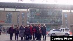山东临沂公民观察团声援后援团12位成员抵达曲阜(网络图片)