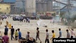 广东罗定市近日万人抗议建造垃圾焚烧厂(网络图片)