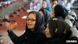 رئیس جمهور افغانستان گفت که به نقش زنان در روند صلح باورمند است