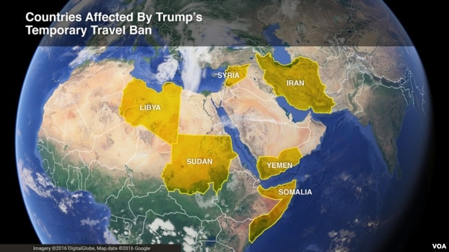 the six countries affected by president donald trump s temporary travel ban iran libya