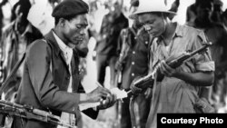 Former freedom fighters captured at training camps in the liberation struggle of the 1970s. (File Photo)