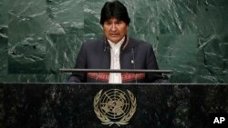 Presidente de Bolivia, Evo Morales pidió a la Asamblea General de la ONU luchar contra el cambio climático.