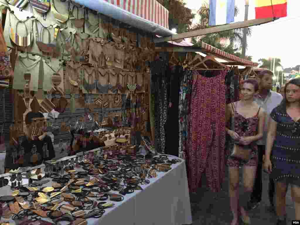 یک بازار خیابانی شهر ریو