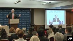 马英九与CSIS视讯会议