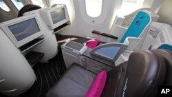 В салоне первого класса Боинга-787