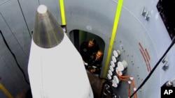 미국 알래스카 포트 그릴리 기지의 지상 기반 요격미사일(GBI).