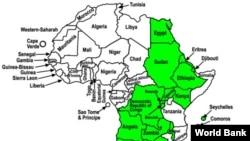 Map of COMESA (World Bank)