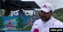 Luis Diego Vazquez, Pemilik Toko Es Krim Mamiche (Foto: Videograb/Kevin Enoch report)
