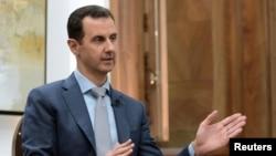 Bashar al-Assad le 10 février 2017 en Syrie.