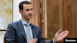 Syria's President Bashar al-Assad is interviewed Feb. 10, 2017, in Syria.