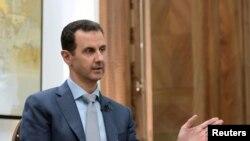 រូបឯកសារ៖ ប្រធានាធិបតី ស៊ីរី Bashar al-Assad ផ្តល់បទសម្ភាសន៍ដល់សារព័ត៌មានមួយកាលពីខែកុម្ភៈ។