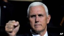 Gubernur Indiana, Mike Pence, seorang pendukung konservatif yang menjadi Cawapres Donald Trump (19/7).