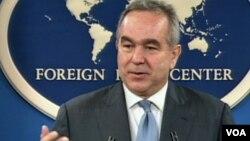 28일 미국 뉴욕의 외신기자클럽에서 미국의 아시아 정책에 대해 설명하는 커트 캠벨 미 국무부 동아태 차관보.