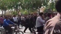فیلم ارسالی شما: شعار زنان معترض اصفهانی: دشمن ما همینجاست، الکی میگن آمریکاست